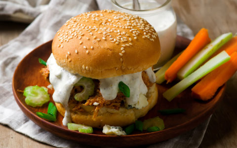 Dean's French Onion Dip - French Onion Buffalo Chicken Sandwich